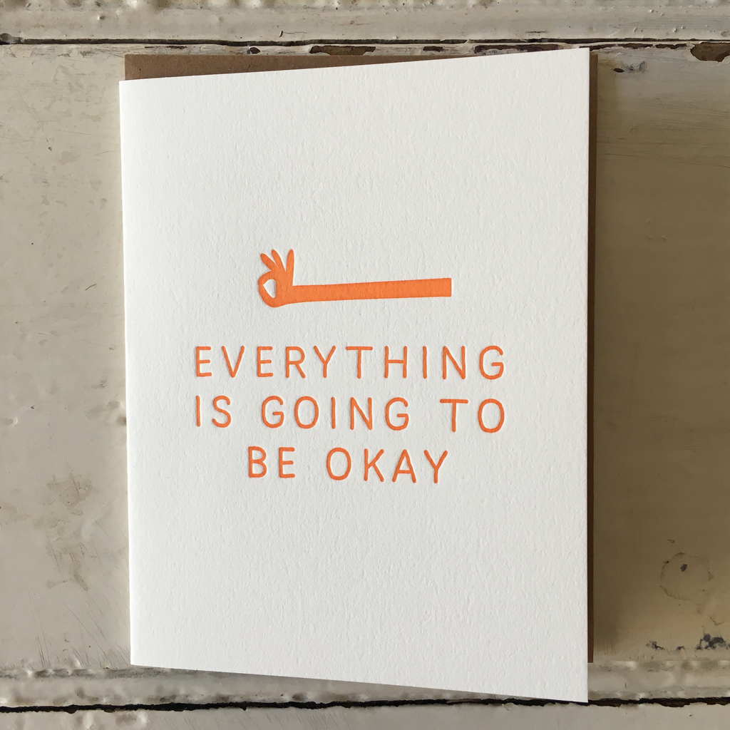 The Pear In Paper | Greeting Card - Everything Will Be Ok