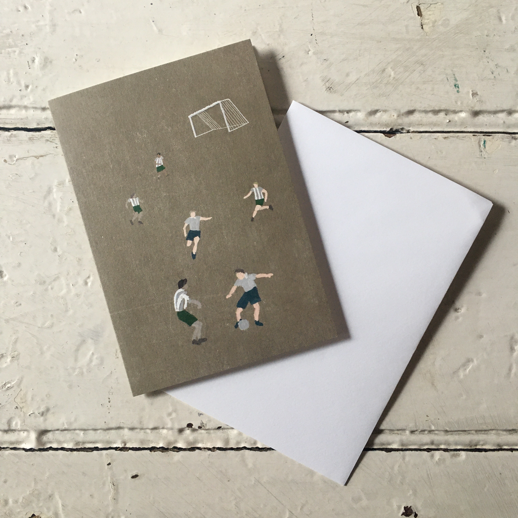 Fine Little Day | Greeting Card - Soccer Design