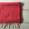 McNutt | Lambswool Scarf -Bright Red Herringbone