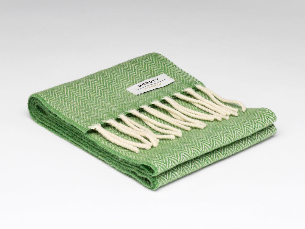 McNutt | Children's Lambswool Scarf - Green