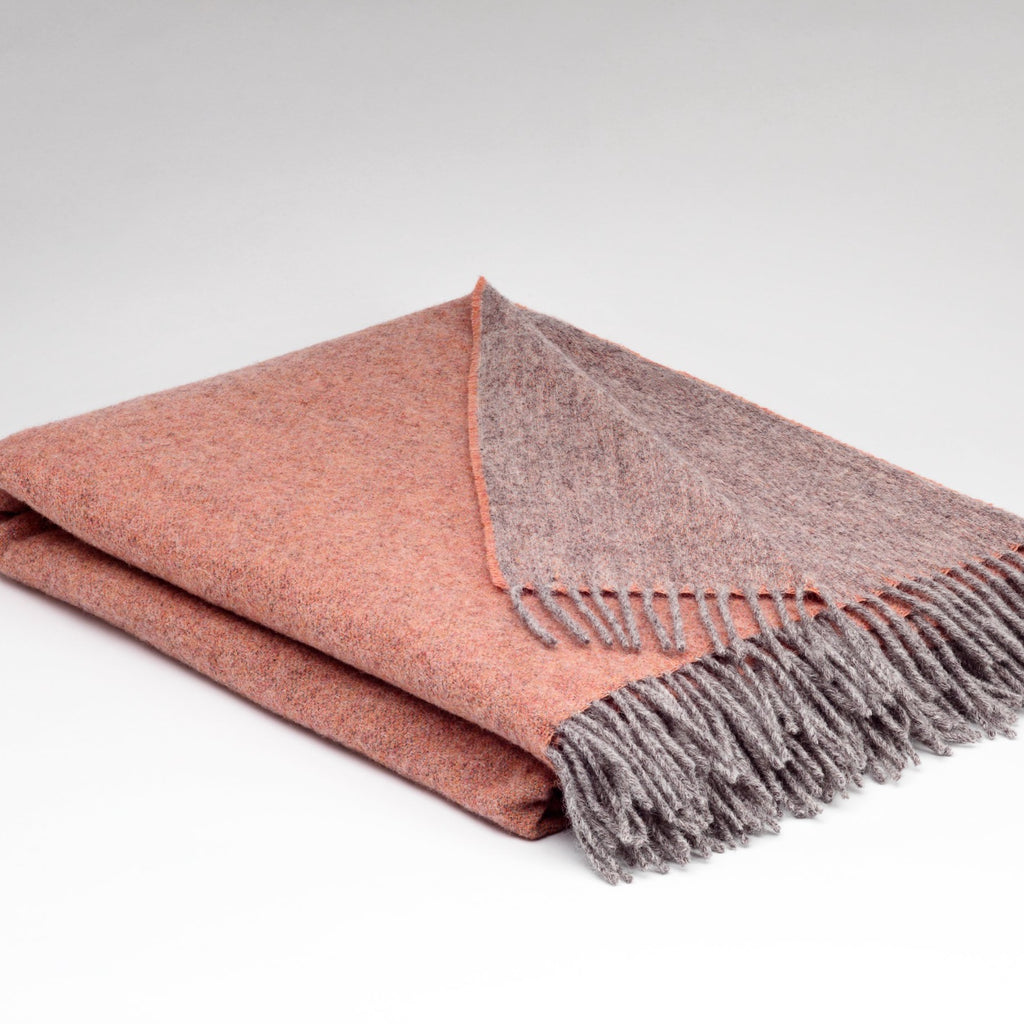McNutt | Luxury Collection Pure Wool Blanket - Peach Nectar Reversible
