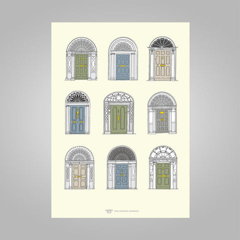 Clover Rua | A4 Georgian Doors Print (2 sizes available) - Pastel