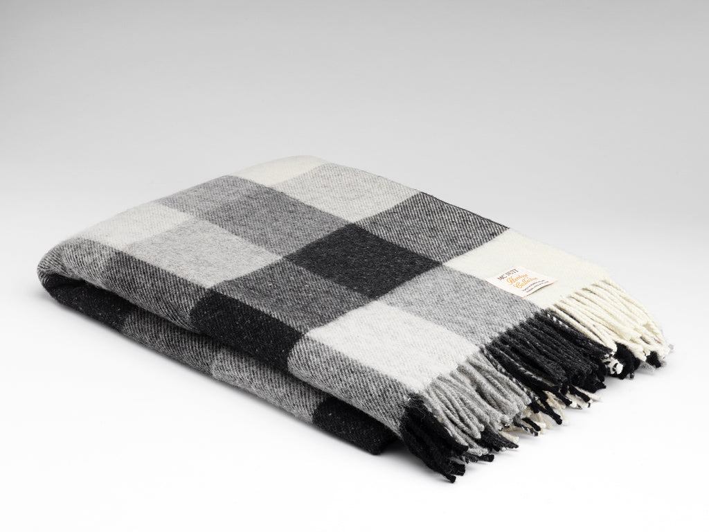 McNutt | Heritage Collection Pure Wool Blanket - Grey Check