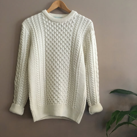 Original Aran Company | Unisex Sweater - Cream