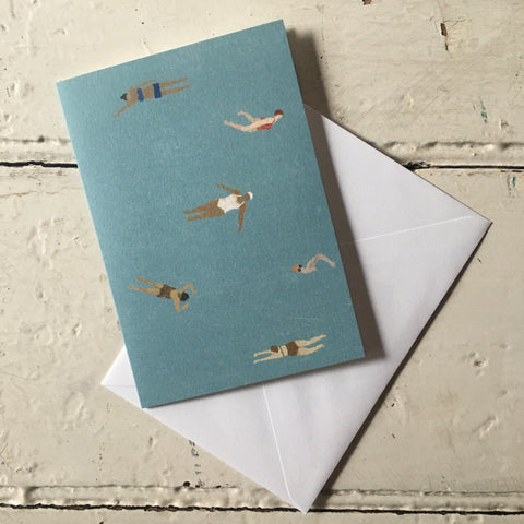 Fine Little Day | Swimmers Greeting Card