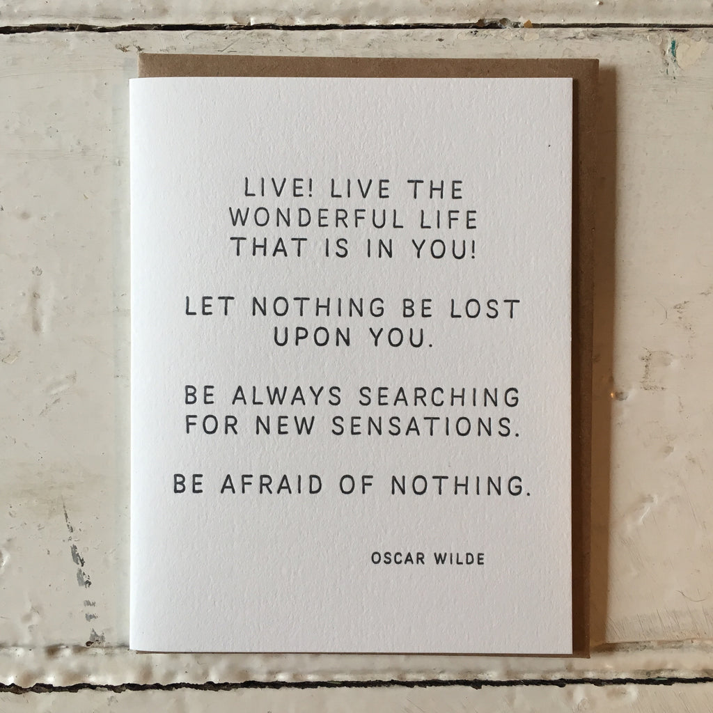 The Pear In Paper | Greeting Card - Oscar Wilde Quote