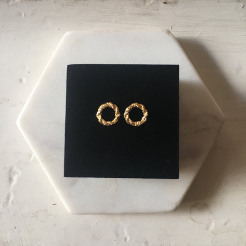Yvonne Ryan Jewellery | Rope Chain Studs - Gold Plated