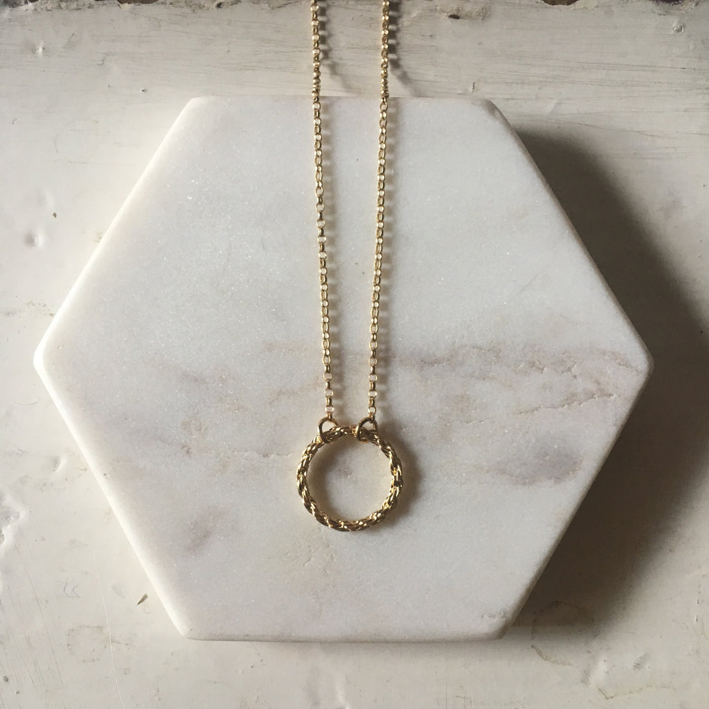 Yvonne Ryan Jewellery | Rope Circle Chain - Gold Plated