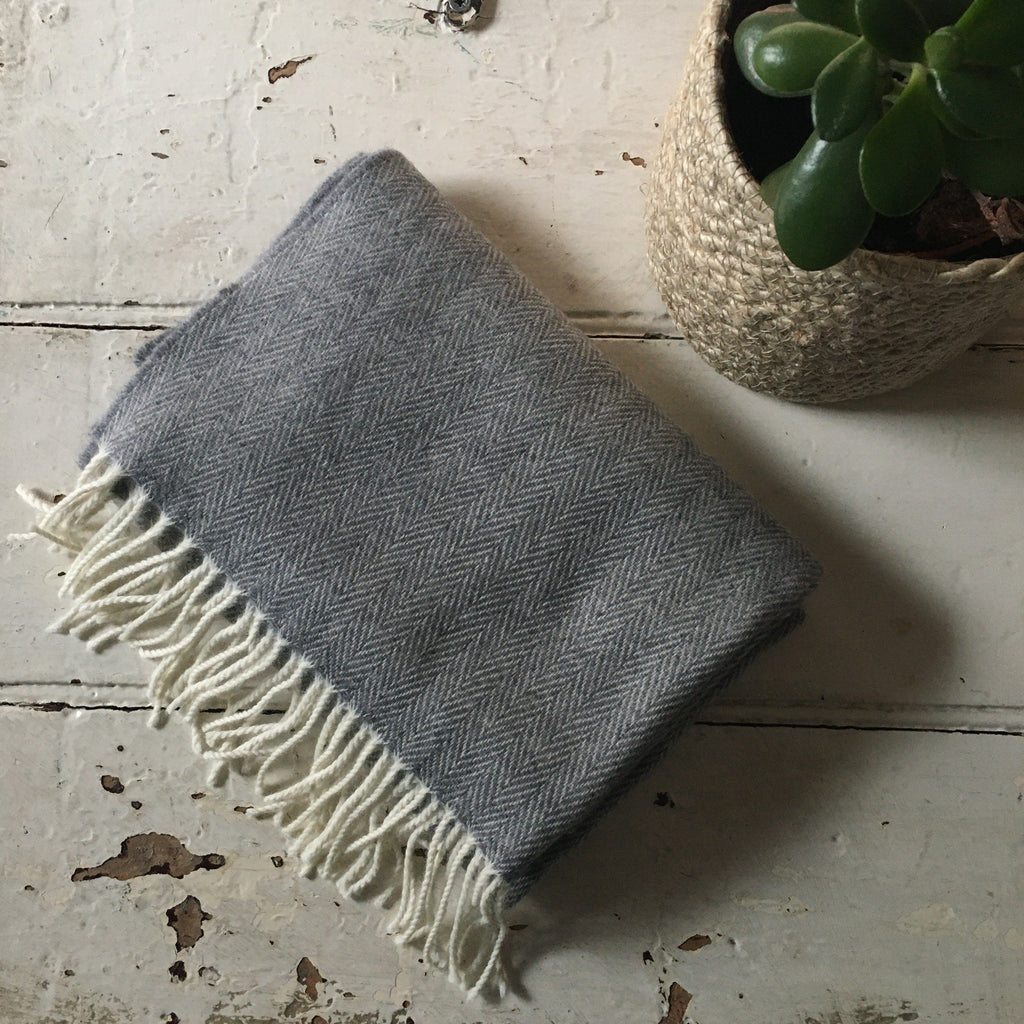 McNutt | Cashmere Blend Wrap - Light Grey