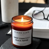 Clean Slate | Soy Wax Candle - Sweet Tobacco & Black Pepper