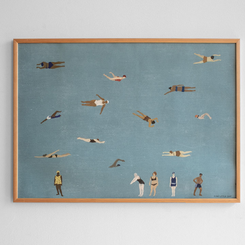 Fine Little Day | Swimmers Print by Elizabeth Dunker