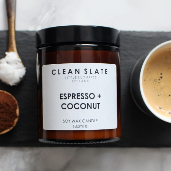 Clean Slate | Soy Wax Candle - Espresso & Coconut