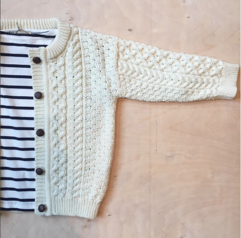Aran Cardigan kids - Natural