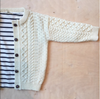 Children's Unisex Arans | Cardigan - Natural
