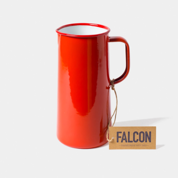 Falcon | 3 Pint Enamel Jug - Pillarbox Red