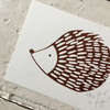 The Pear In Paper | A6 Print - Hedgehog