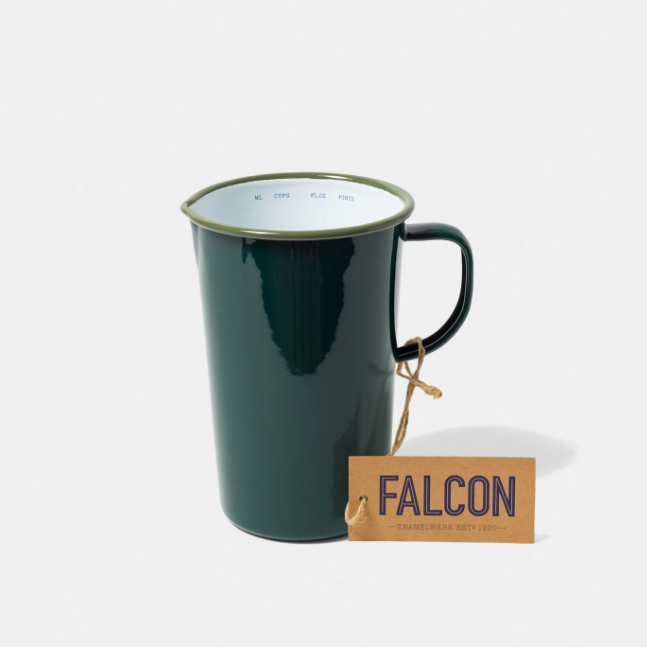 Falcon | Enamel 2 Pint Jug - Samphire Green
