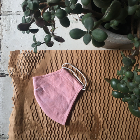 Four Threads | Unisex Cotton Face Mask - Bubblegum Pink