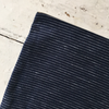 Fog Linen | Linen Canna Zip-Pouch - Navy with White Dash Stripe