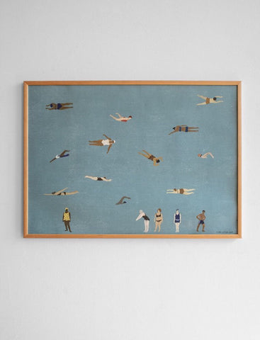 Swimmers print by Elizabeth Dunker of Fine Little Day