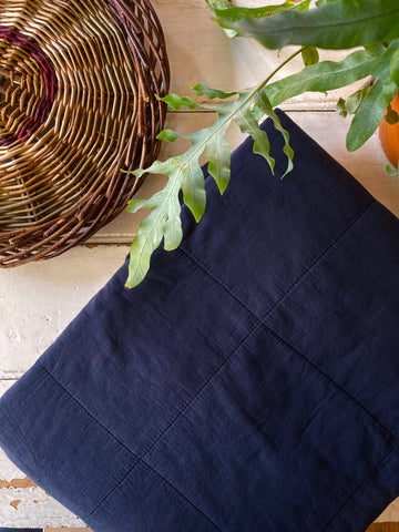 Ib Laursen | Cotton Quilt Blanket - Midnight Navy