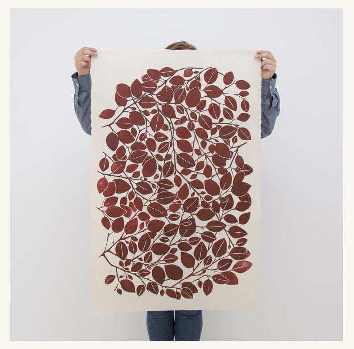Superfolk Copper Beech block print