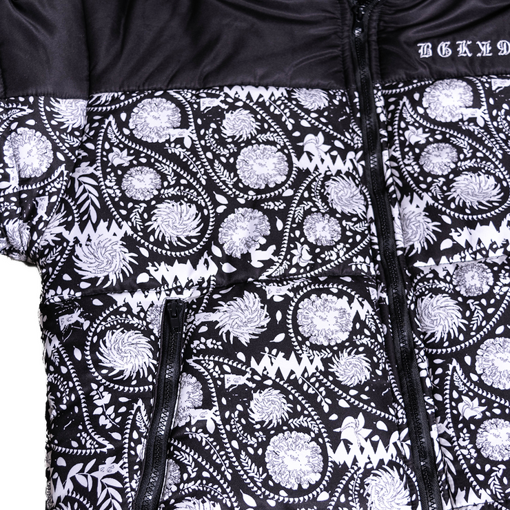 Paisley Puffer Coat Club of Hearts