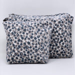 "The Perfect Pair: ""The Big One"" and ""The Little One"" Makeup Bag //Lee Jofa Salsa Two Spot Cut Velvet"