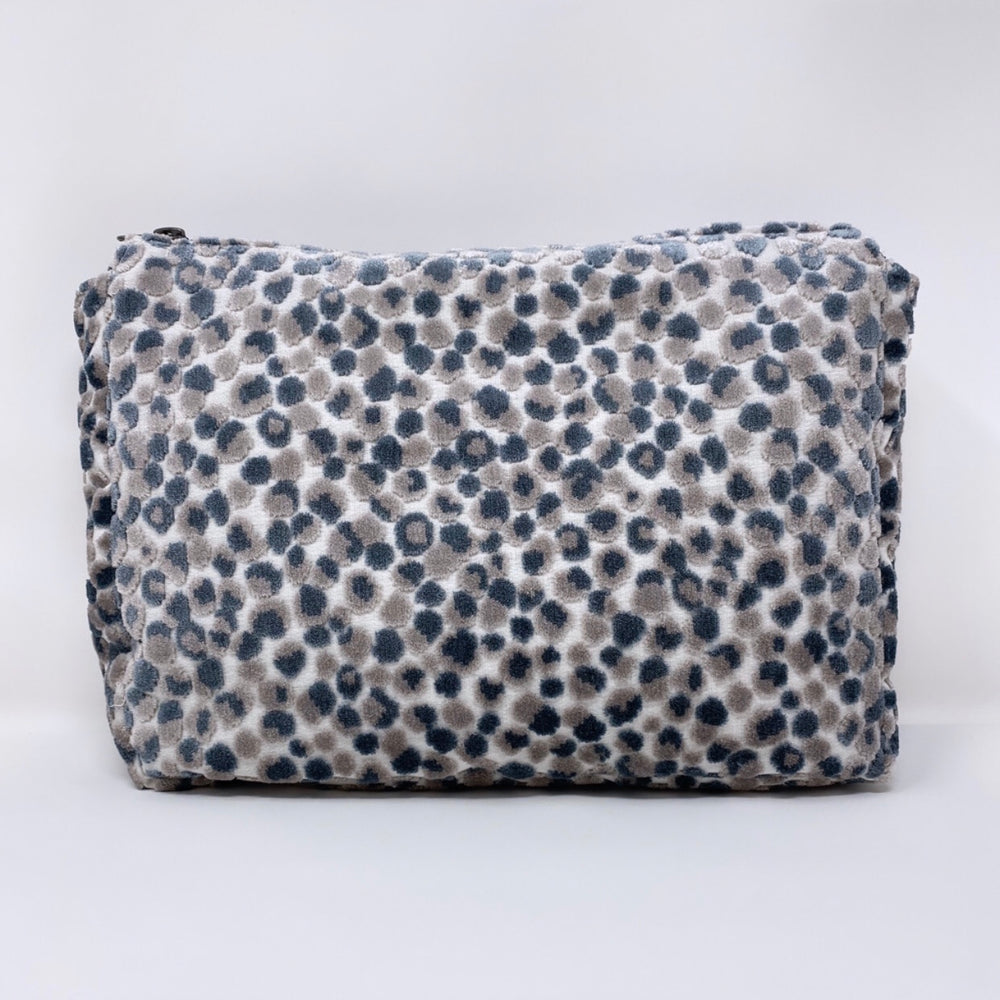 """The Big One"" Makeup Bag//Lee Jofa Salsa Two Spot Cut Velvet"