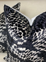 Pair of Black and Cream Animal Print