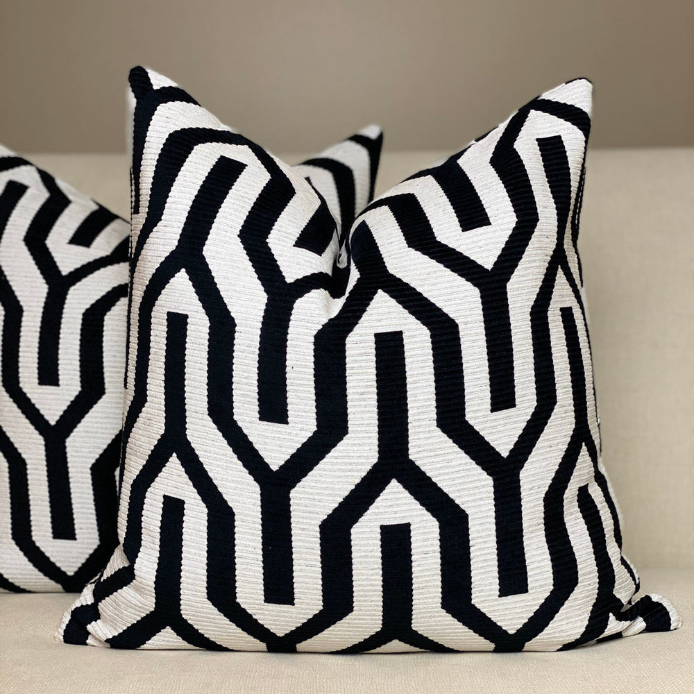 Pair of Black and White Geometric