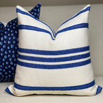Pair of Blue Stripe Mudcloth