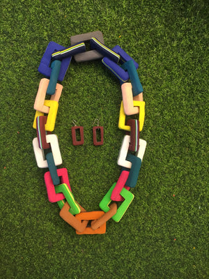 Chain design- recycled flip flops -Necklace