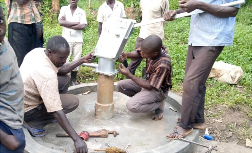 Children using well built by Little Ripples