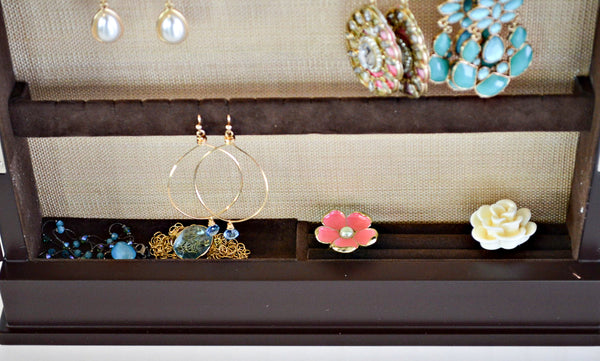 Brown Wall Mount Earring Box Lower