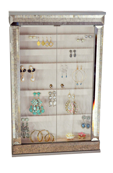 Mirrored Wall Mount Earring Box