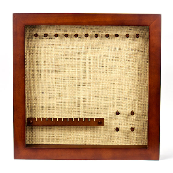 Brown Frame with Raffia