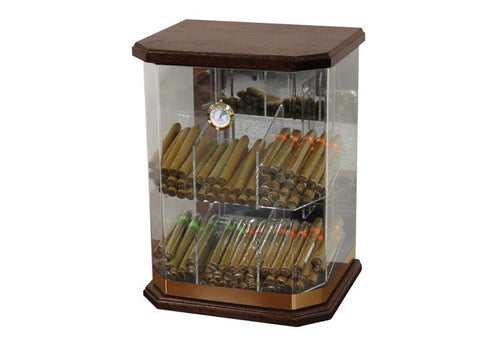 Wood and acrylic Franklin humidor