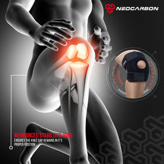 Neocarbon knee brace effectively relieves acute and chronic knee pain from arthritis, strains, sprains, and fatigue.