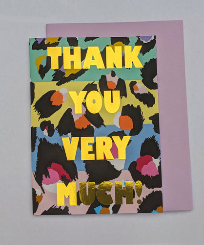Thank you very much leopard print card