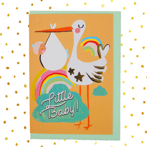Little baby 👶🏻 stork card