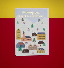 Load image into Gallery viewer, merry-christmas-card-ski-village