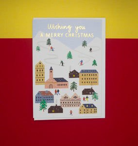 merry-christmas-card-ski-village