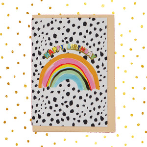Rainbow 🌈 happy birthday card