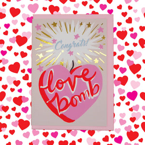 Congratulations love bomb 💖💣 card