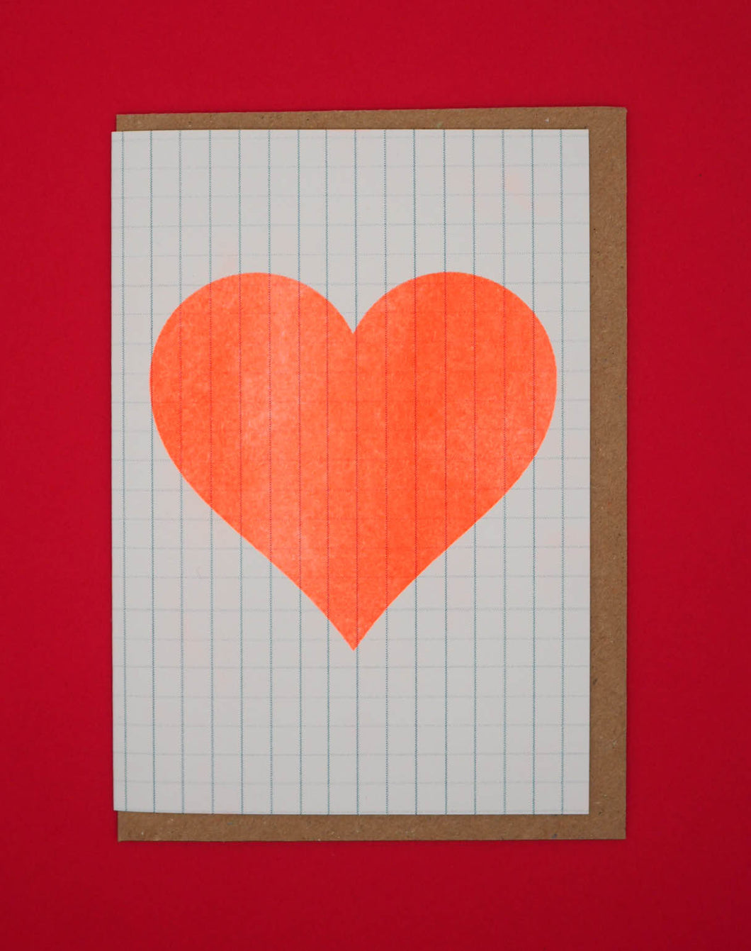 🧡Jotter orange heart Valentines Day card 🧡