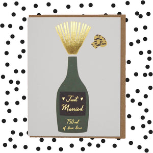 Just married champagne celebration 🍾 wedding card