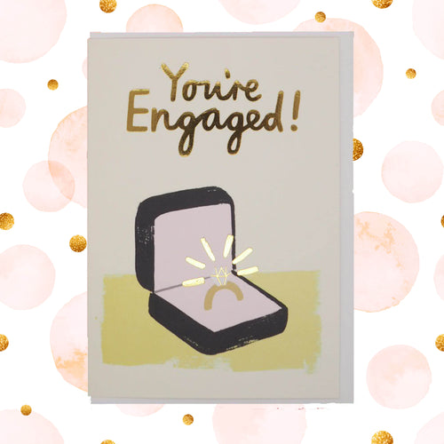 You're engaged! 💍 ring celebration card