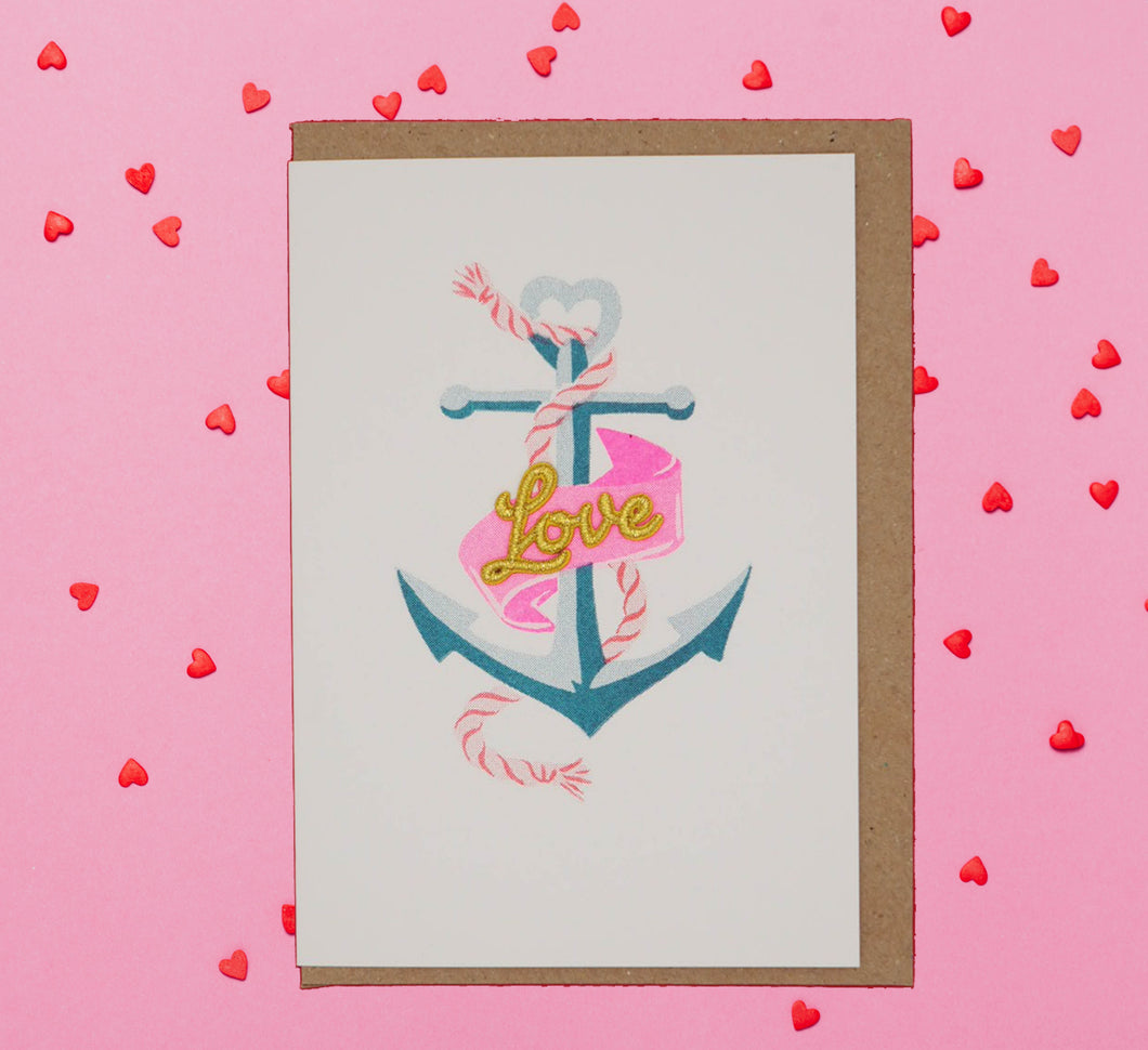 ⚓️💙Anchor love sailor tattoo Valentine's Day card💙⚓️