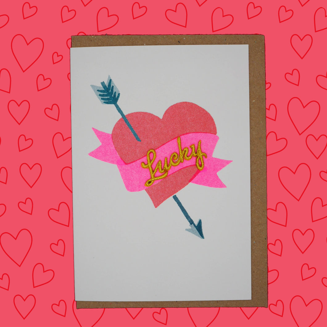 💘Lucky heart and arrow card 💘